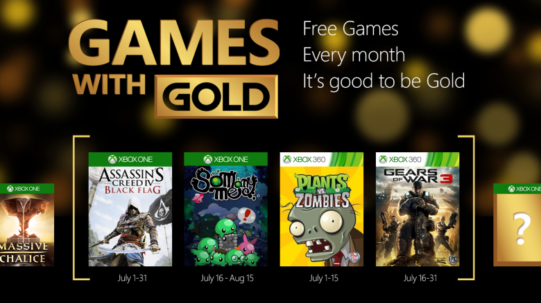 free games with gold xbox one july