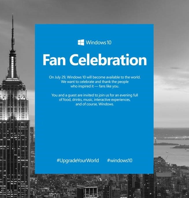 Windows 10 Fan Celebration