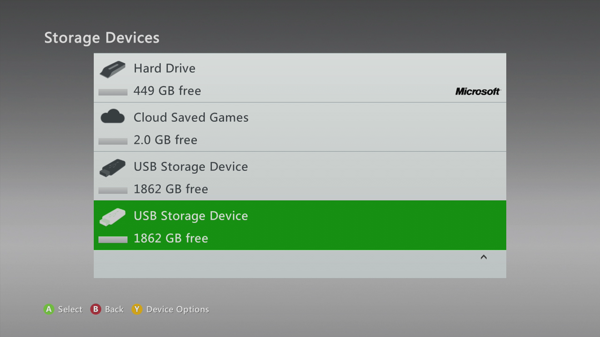 Xbox Storage All Devices