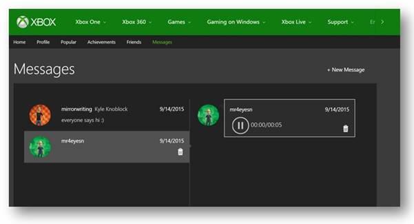 Xbox Voice Messages