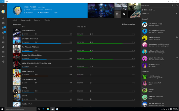 XboxApp on Windows 10_September Update_Achievements