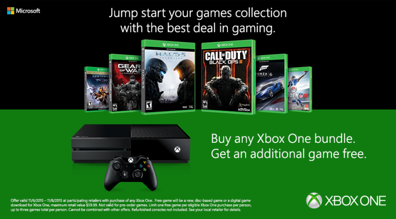 buy any xbox one bundle and get an additional game free. Black Bedroom Furniture Sets. Home Design Ideas