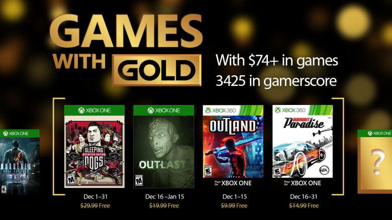[Xbox Live] Games with Gold - December