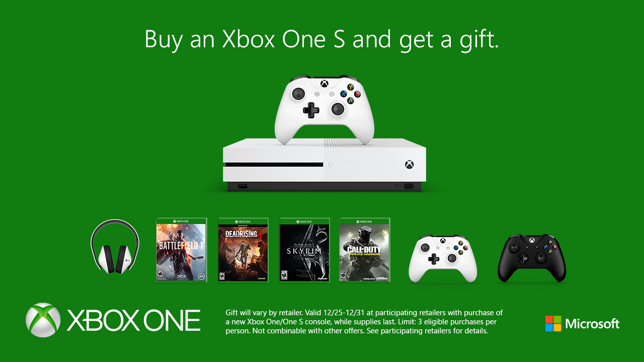 Close Out 2016 With A New Xbox One S And A Free Gift |